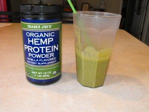 Drink a hemp protein shake with added Peanut butter and ...