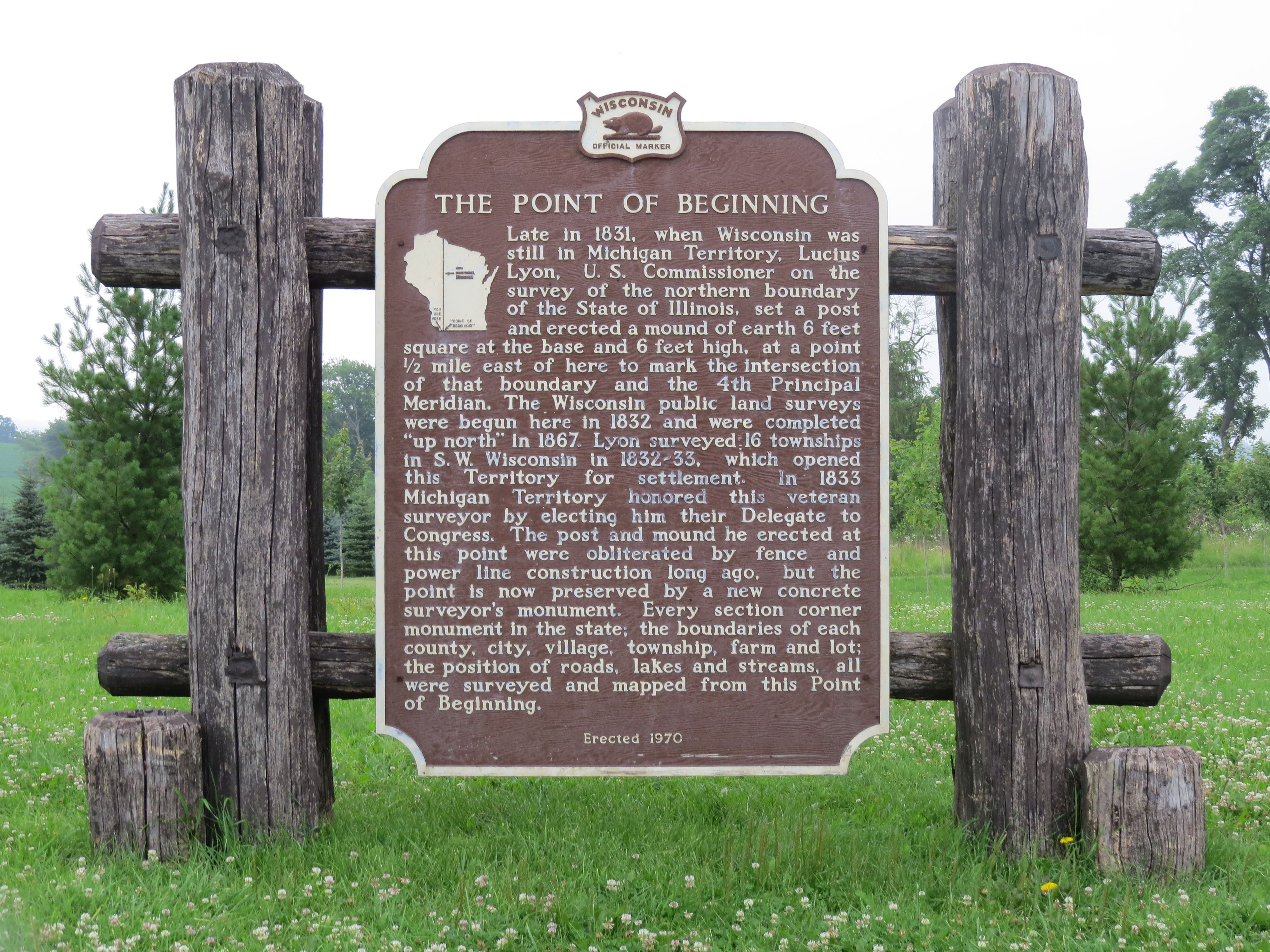The Point Of Beginning Near Wi Il State Line Hwy 80 Grant