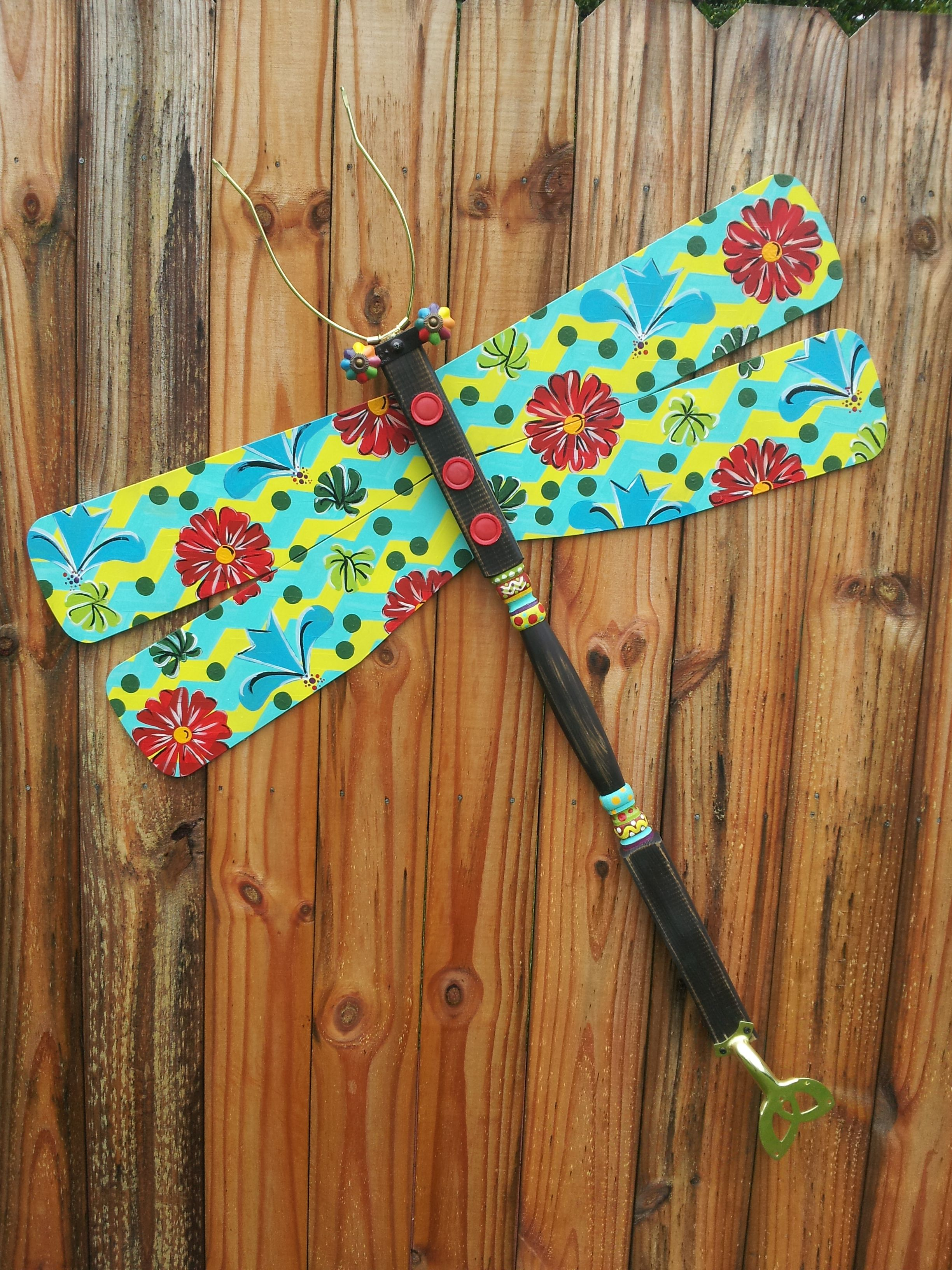 Dragonfly Ceiling Fan Blade Yard Art