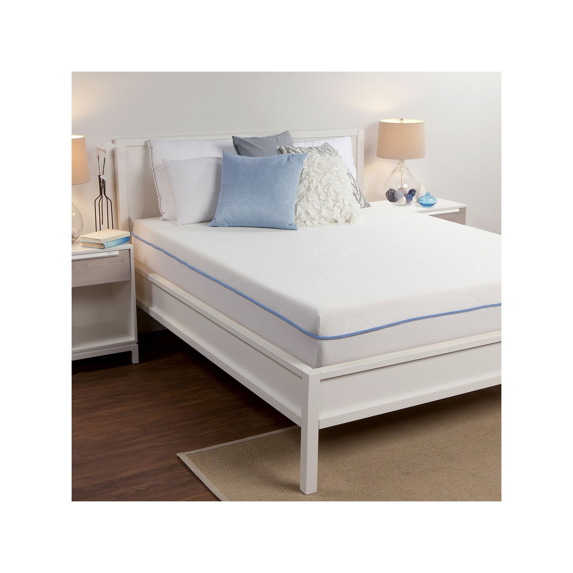 sealy 8 in memory foam mattress white foam mattress memory foam
