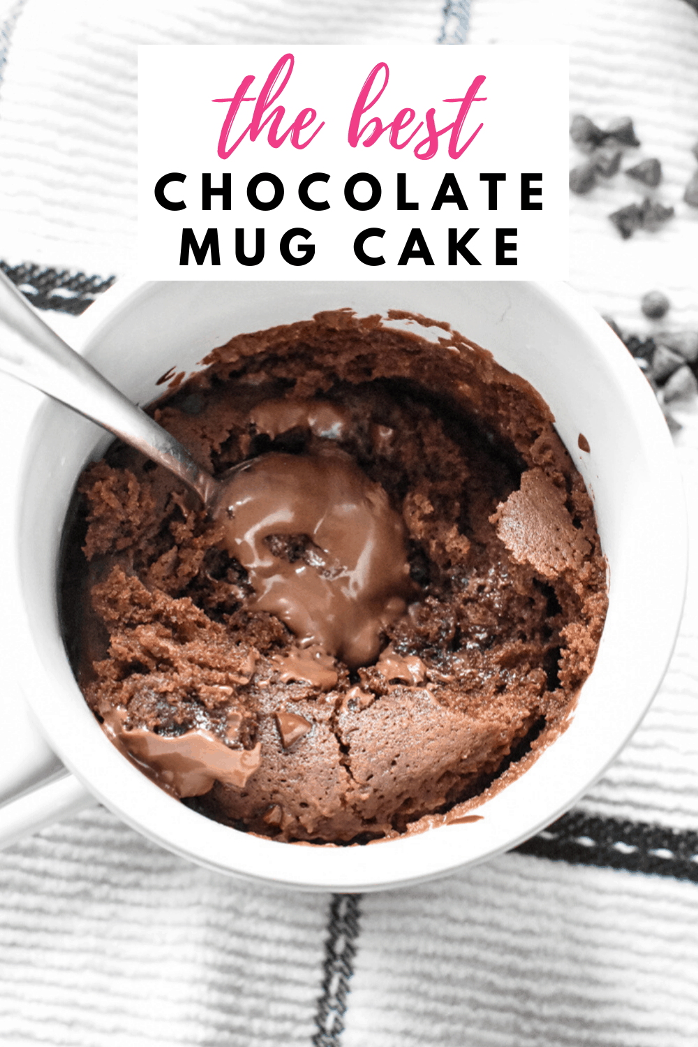 The Best Chocolate Mug Cake | Recipe in 2020 | Microwave ...