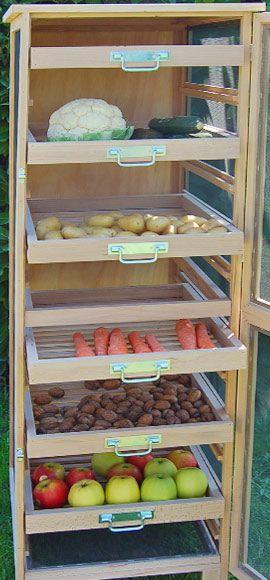 Meuble Legumier Fruitier En Bois 6 Tiroirs En 2020 Rangement Legumes Legumier Garde Meuble De Legumes