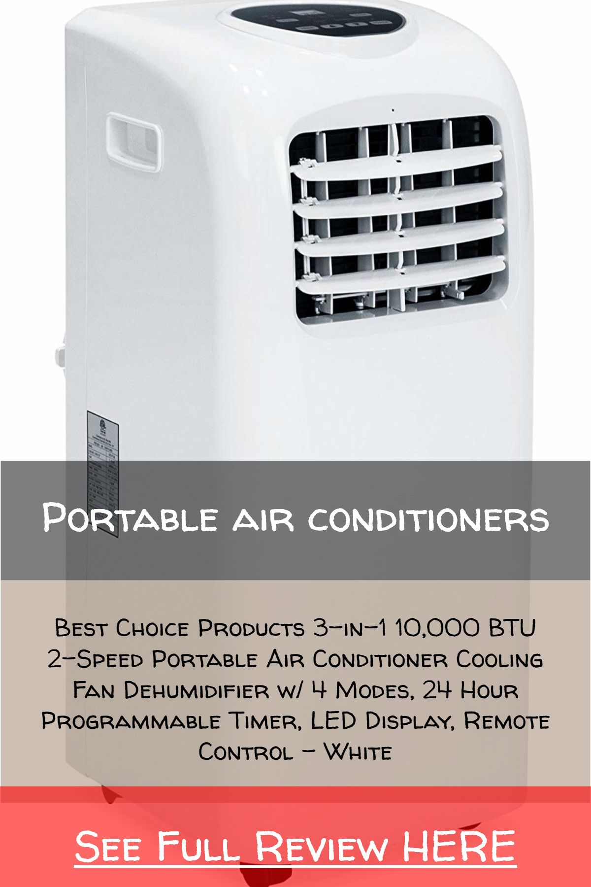 Portable Air Conditioners Best Choice Products 3 In 1 10 000 Btu 2 Speed Portable Air Condi Portable Air Conditioner Portable Air Conditioners Remote Control
