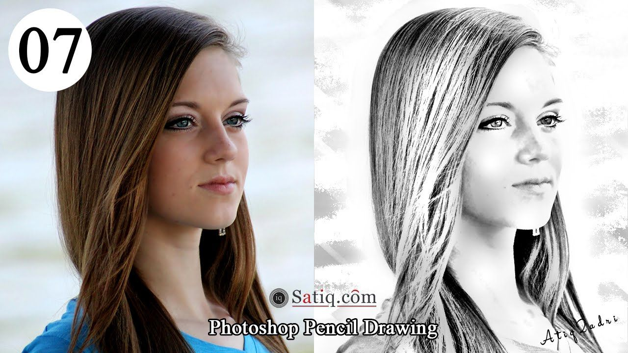 Photo effect 07 photoshop pencil drawing sketch effect learn how to transform photos into realistic pencil drawing