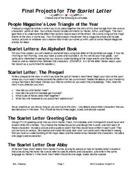 The scarlet letter essay