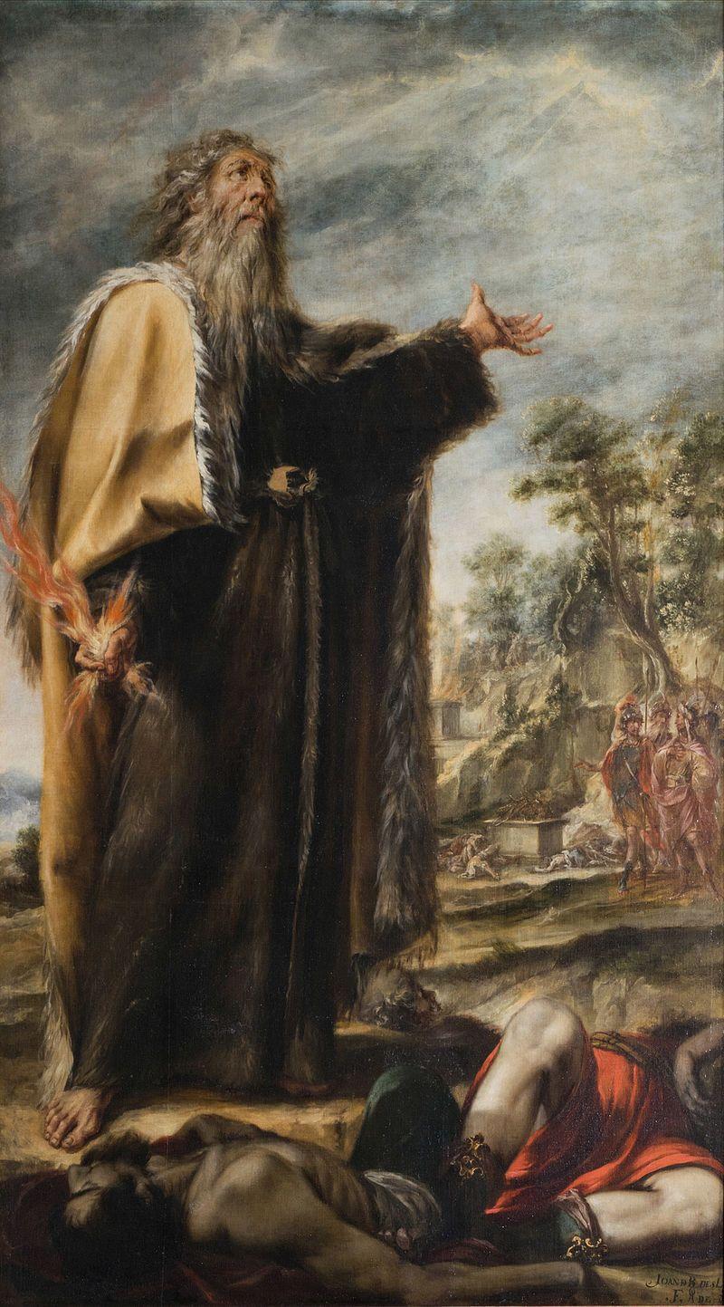 Elias y los profetas de Baal,1658. Iglesia de nuestra señora del ...