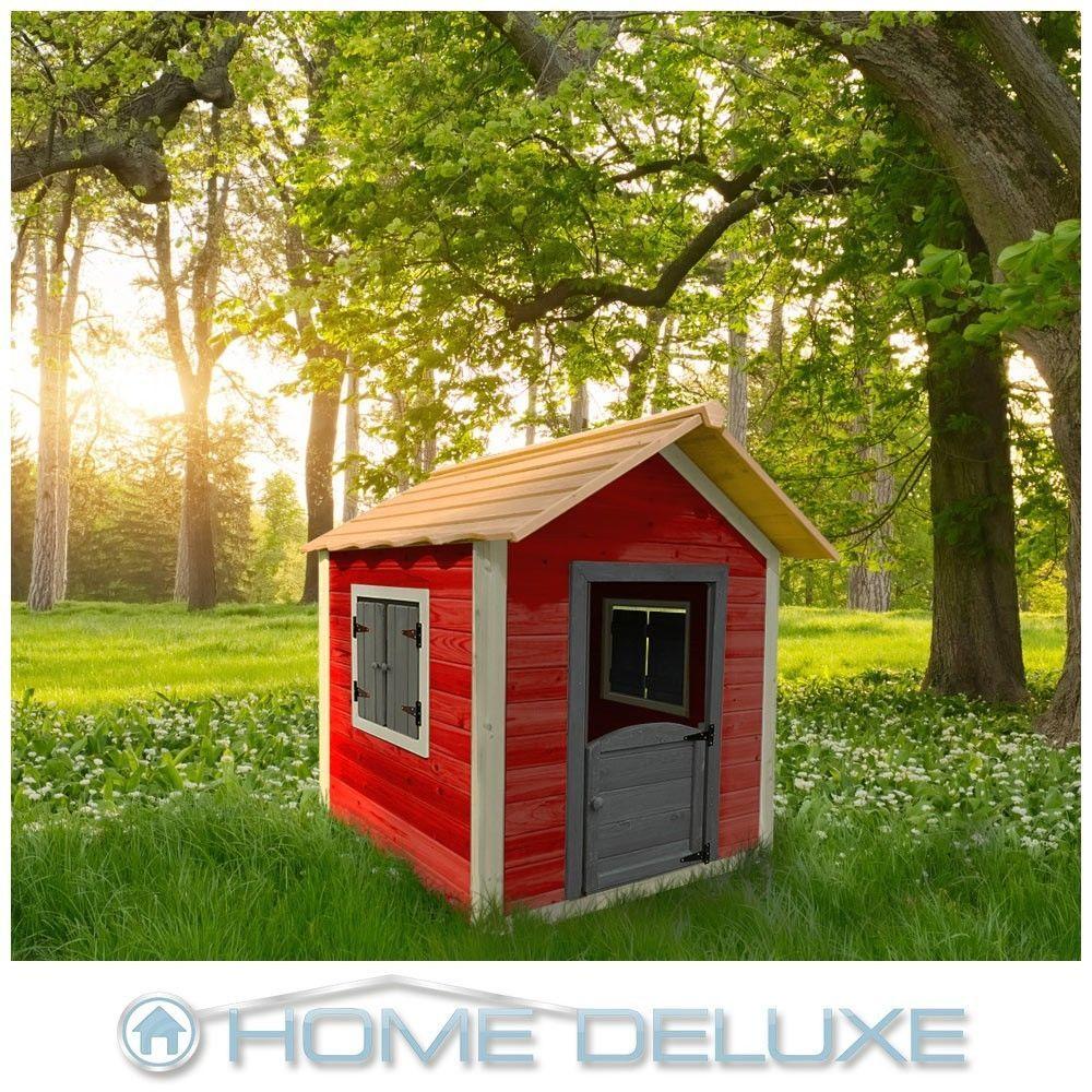 Home Deluxe Spielhaus Kinderspielhaus Holzhaus Gartenhaus Garten Kinderhaus Ebay Spielhaus Design Gartenhaus Kinderhaus