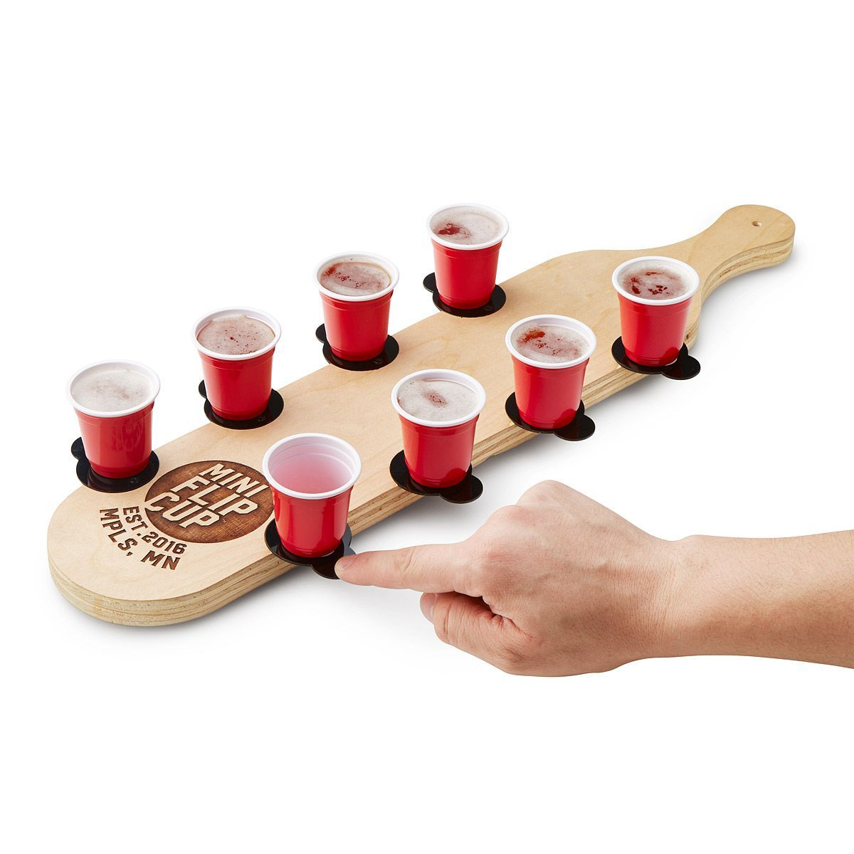 When You Have To Have Flip Cup Anytime Anywhere Una Parte Standard Delaware L A Evoluciod Delawa In 2020 Drinking Games Drinking Games For Parties Mini Beer Pong