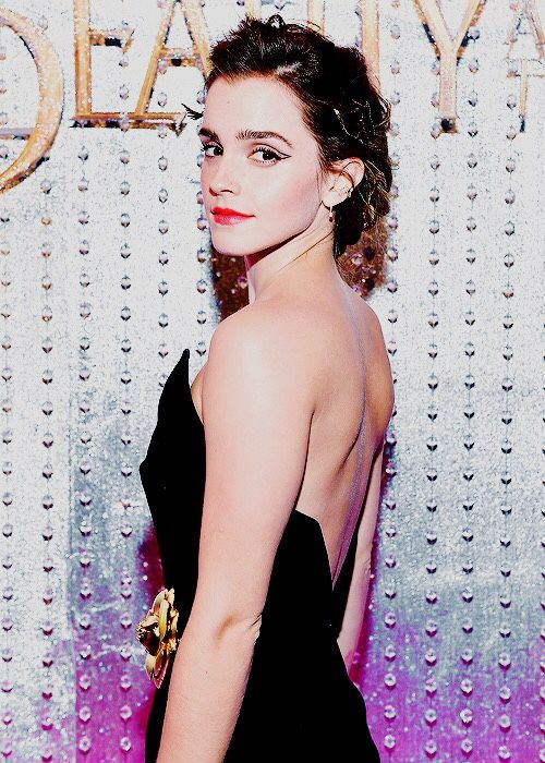"magicfolk: ""Emma Watson at the premiere event for ""Beauty and the ..."
