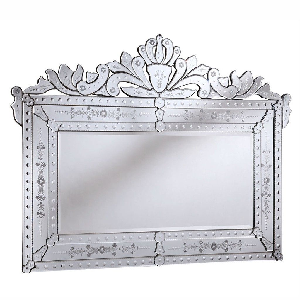 Venetian 59 in. Transitional Mirror in Clear - Elegant ...