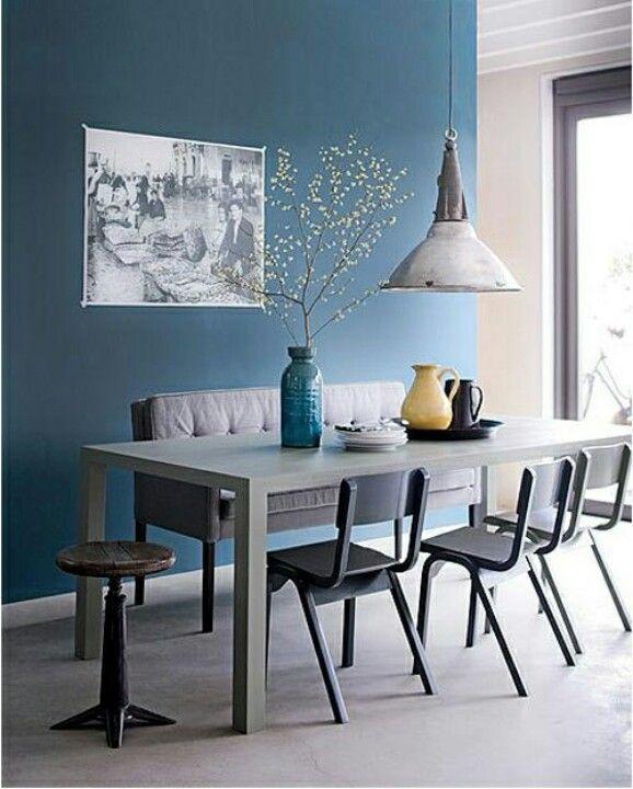 d clinaisons de bleu en d co murs bleus couleur bleu canard et d tente. Black Bedroom Furniture Sets. Home Design Ideas