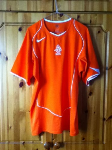 4186f0cacf7 Holland Home Football Jersey from 2004 Netherlands Large Adult Nike.  Classic Orange Soccer jersey. Worldwide Postage.