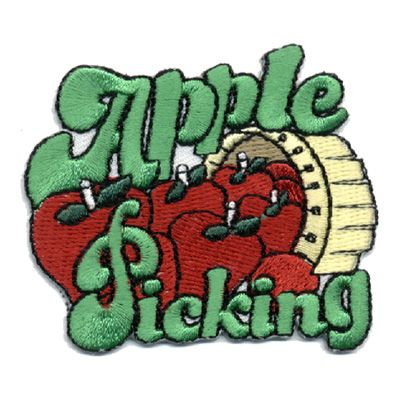 Apple Picking Patch Girl scout fun patches, Cool patches
