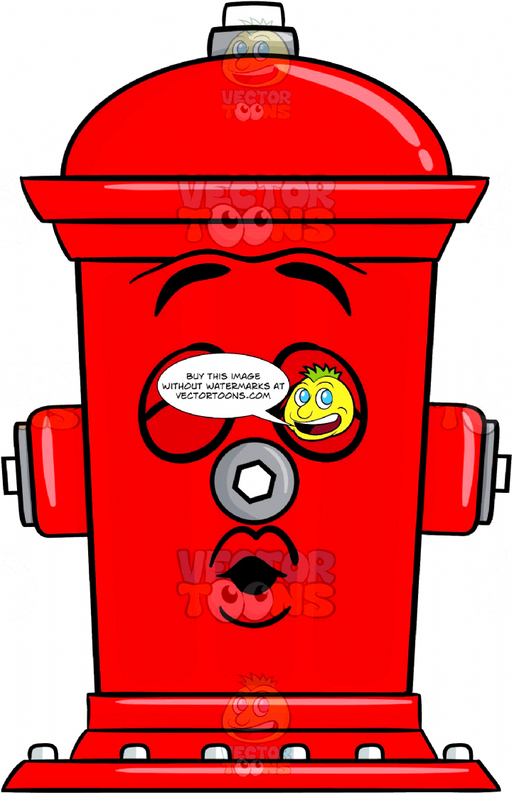 Cartoon Image Of A Red Fire Hydrant Clapper Valve Located On Top Right Left And Front 6 Steel Bolts Screwed Onto The Floor Lips Fire Hydrant Hydrant Fire