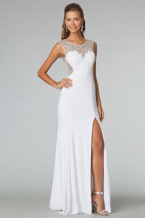 7370659a436ec Blanco Vestidos De Gala Largos