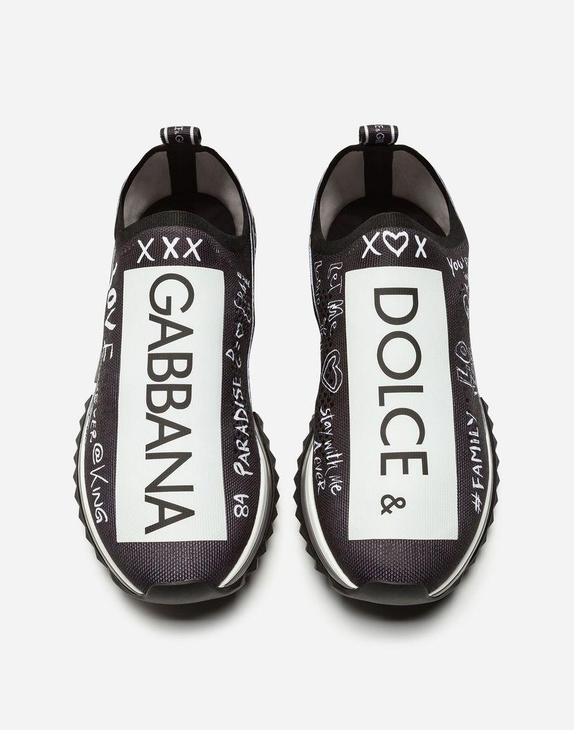 dolce & gabbana sneakers in sorrento graffiti print