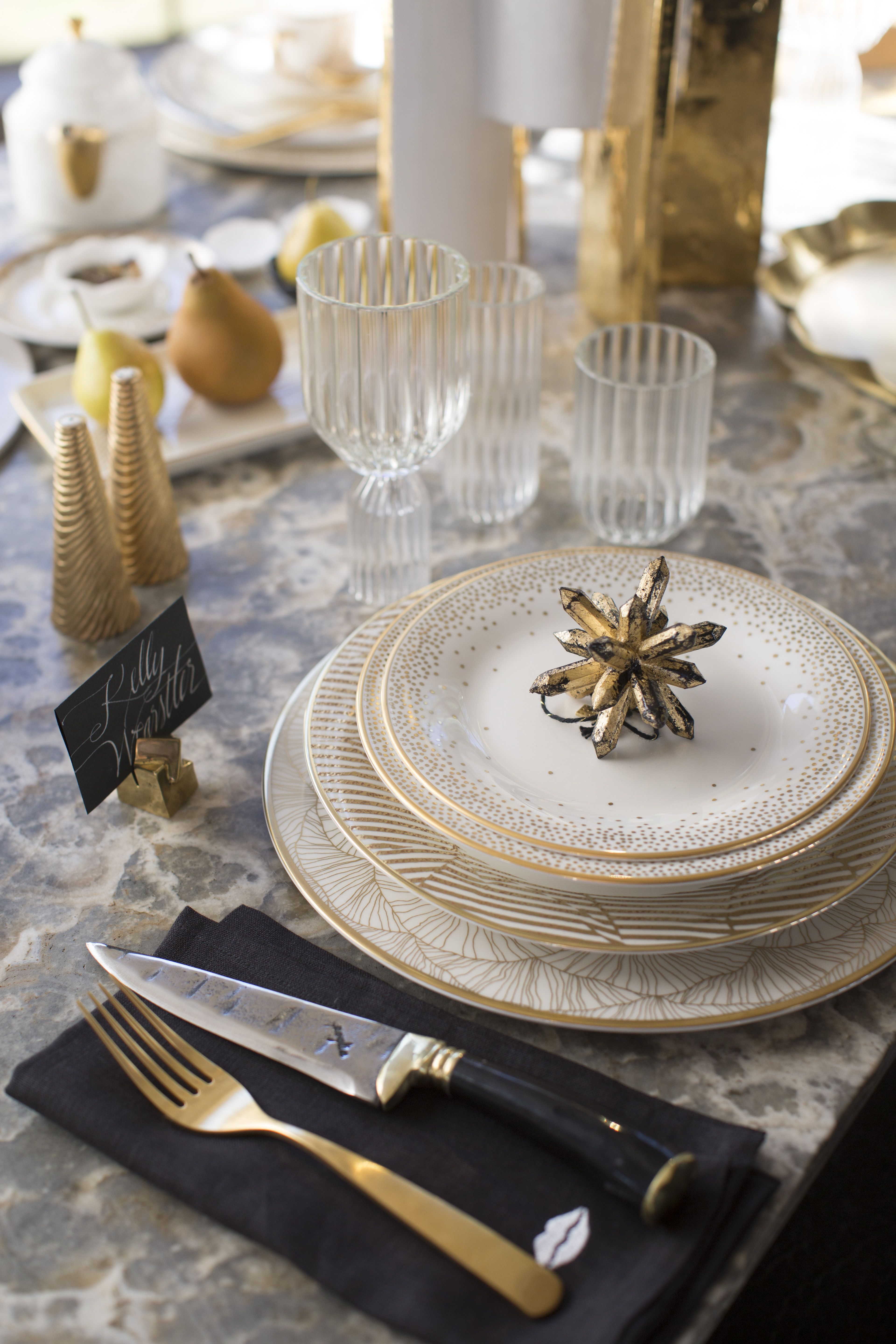 Kelly Wearstler Fine China With 22k Gold Detailing Dining