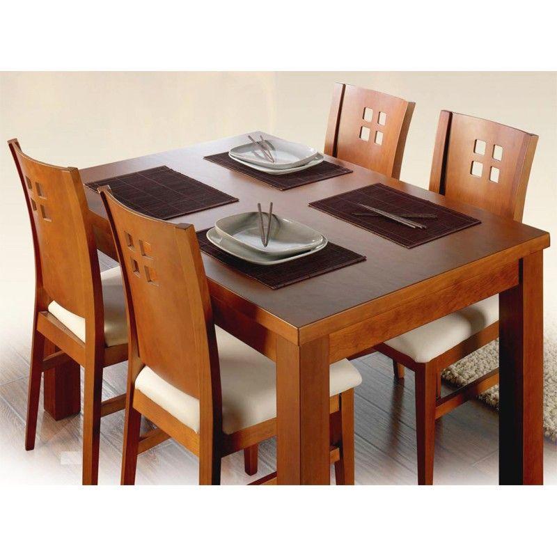 Resultado de imagen para comedores peque os de madera for Precios de mesas para comedor