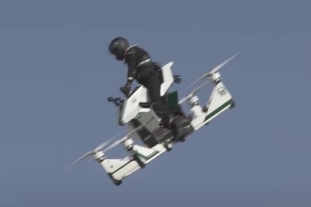 Video Russian hoverbike loses control at 100 ft and