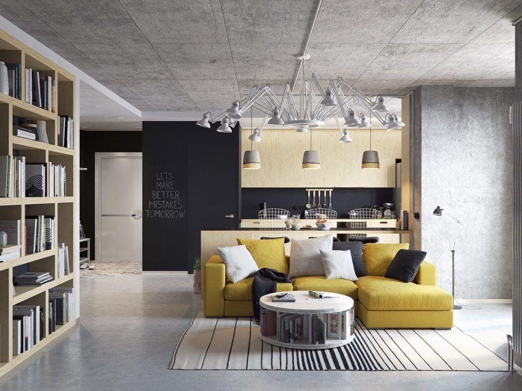 3 concrete lofts with wide open floor plans loft design