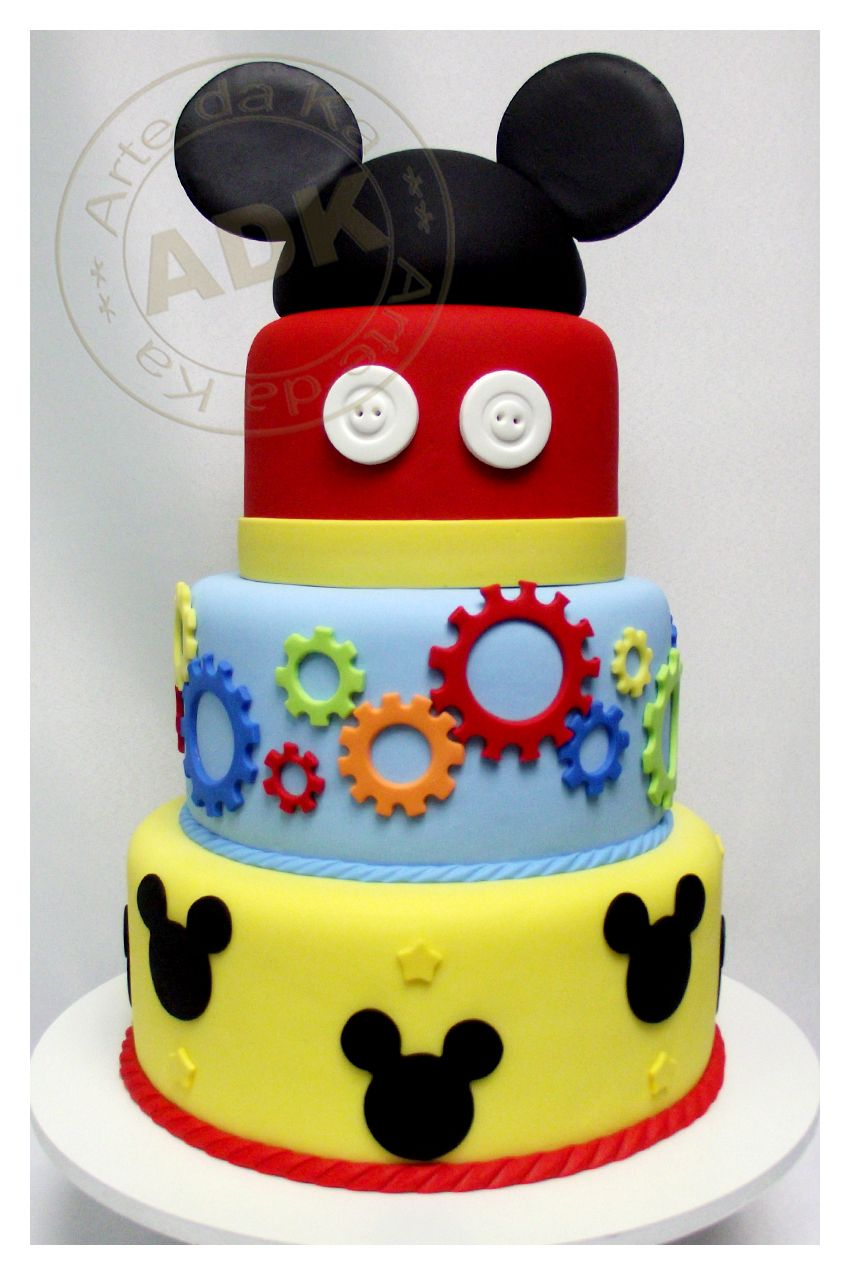 Mickey mouse cake; I think this is finally the first birthday cake!!!