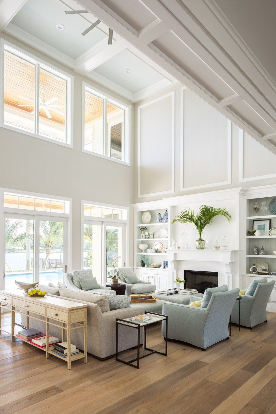 Cottage/Country Living Room Design Photo by Krista Watterworth ...