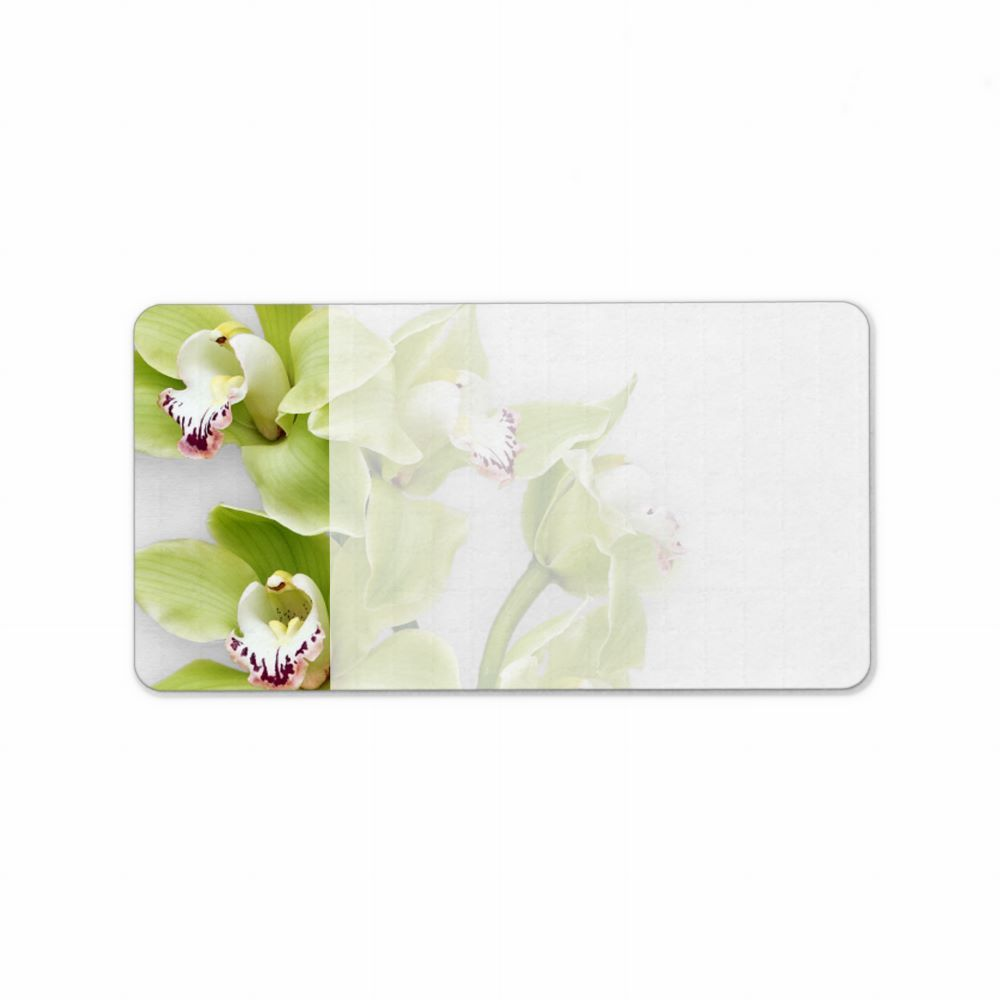 Green Orchid Blank Wedding Address Labels From Zazzle