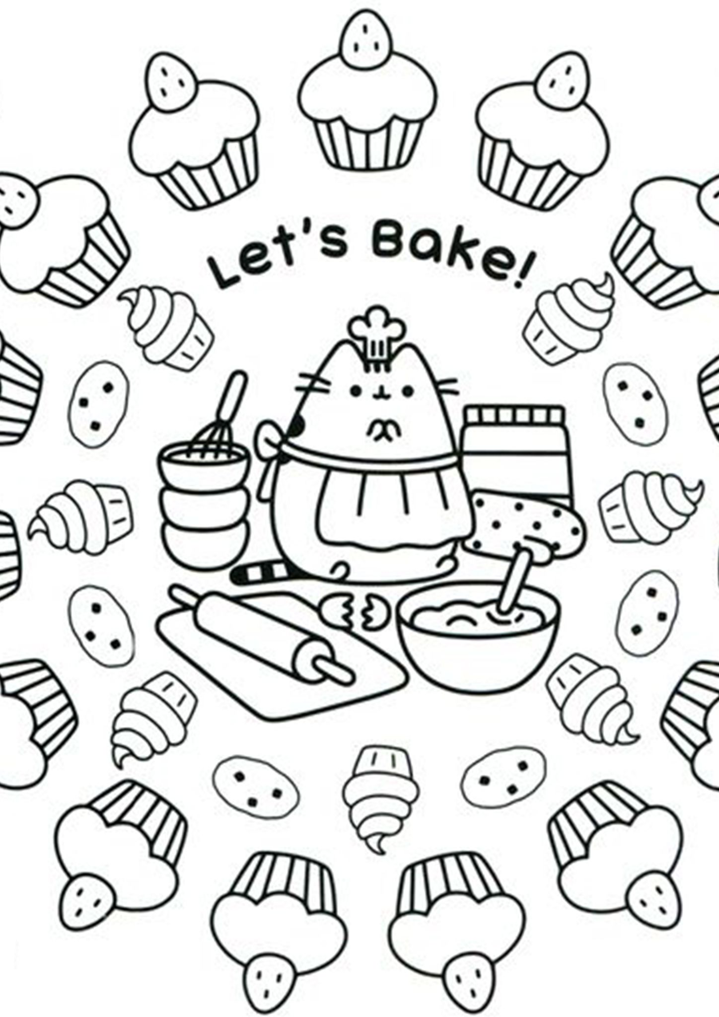 Free Easy To Print Pusheen Coloring Pages Pusheen Coloring Pages Elsa Coloring Pages Cartoon Coloring Pages