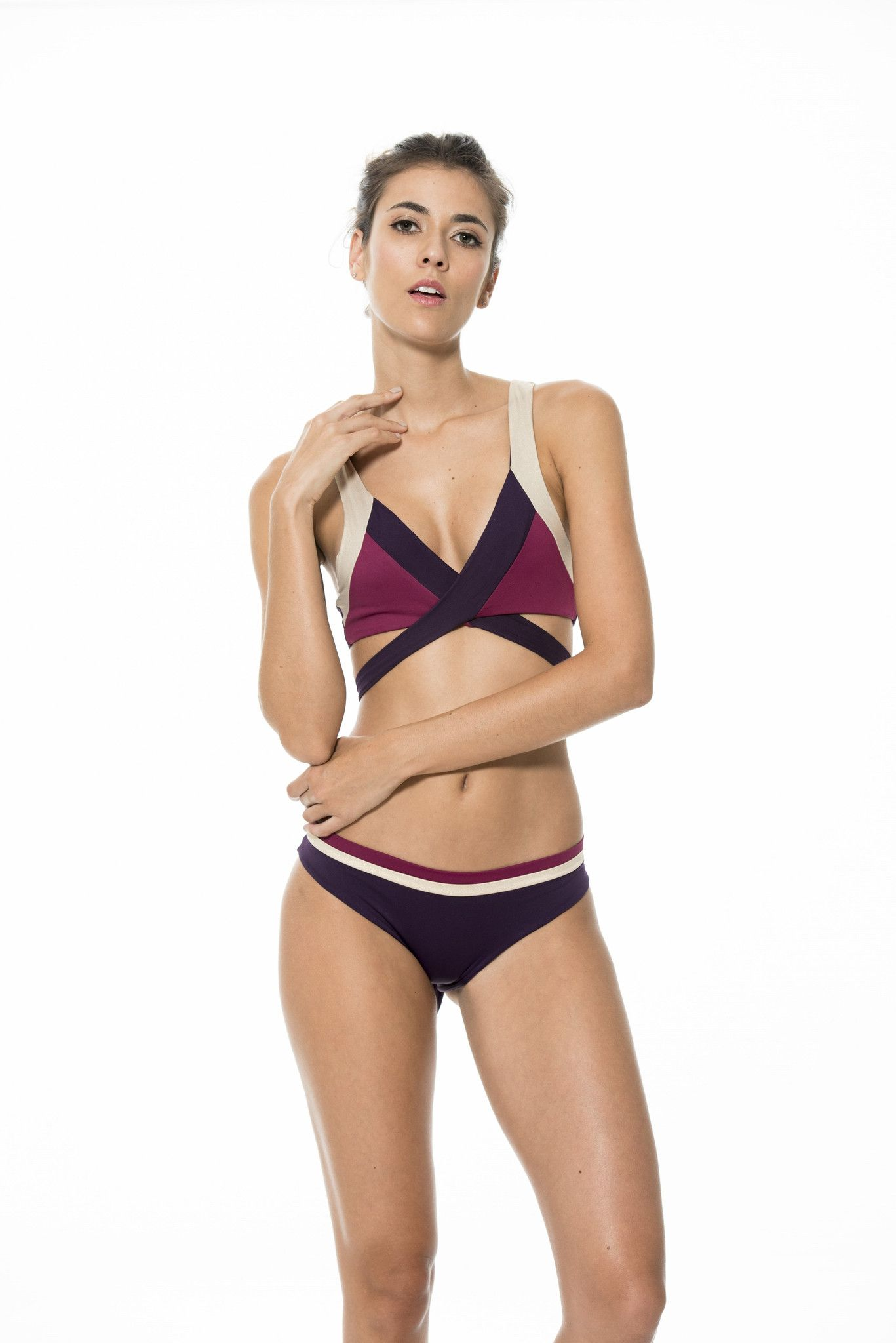 e962a78ee03842 We know how hard it is to choose between 3 of the best selling colors. This  color combination is our absolute favorite. The bikini top wraps around the  ...