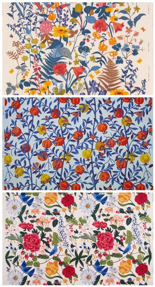 Tender Textiles Floral Textile Scandinavian Textiles Textile