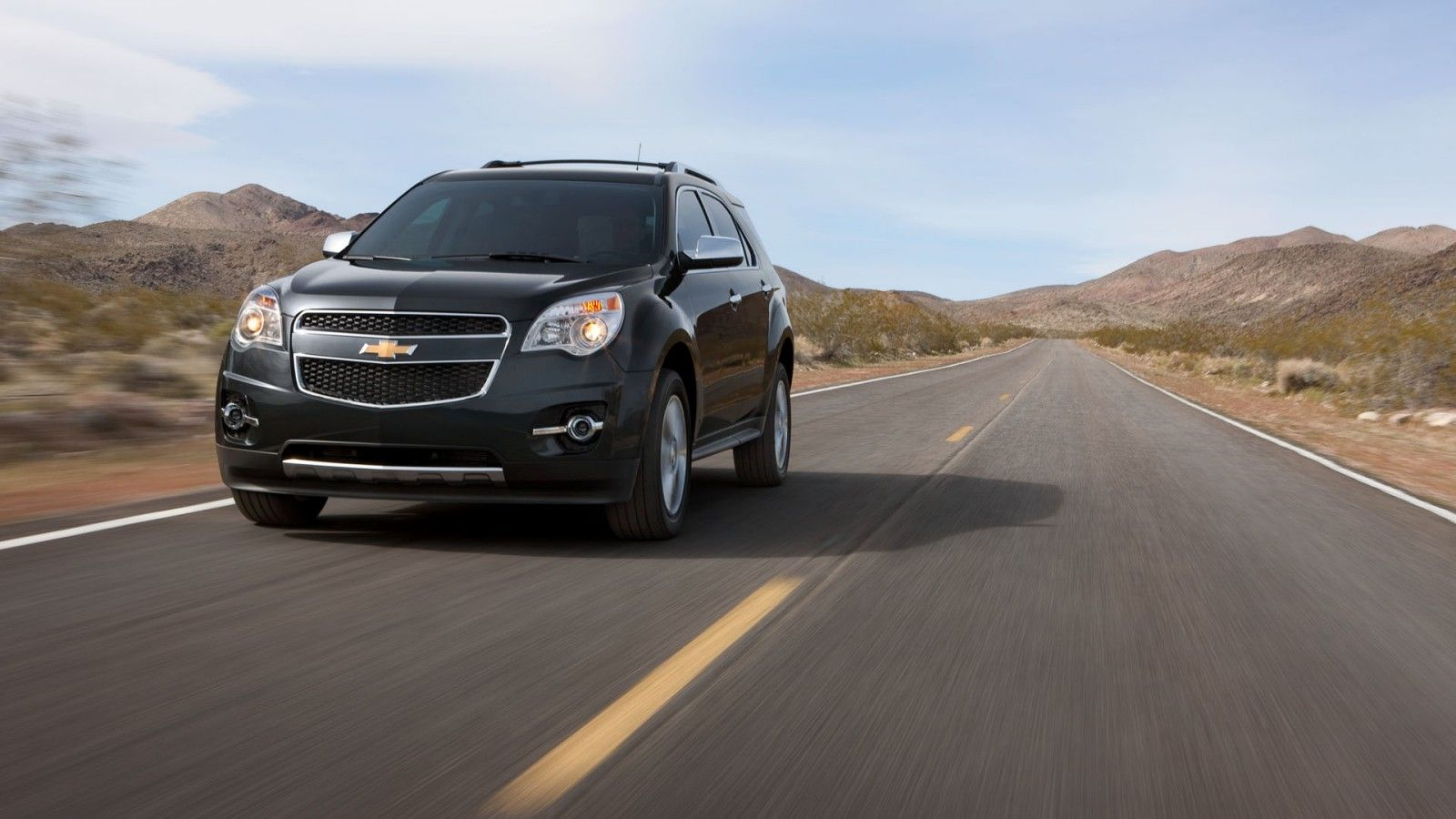 2012 Chevy Equinox Crossover SUV front angle shown in