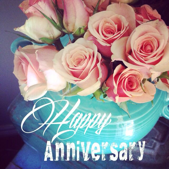 happy anniversary flowers make a beautiful card always