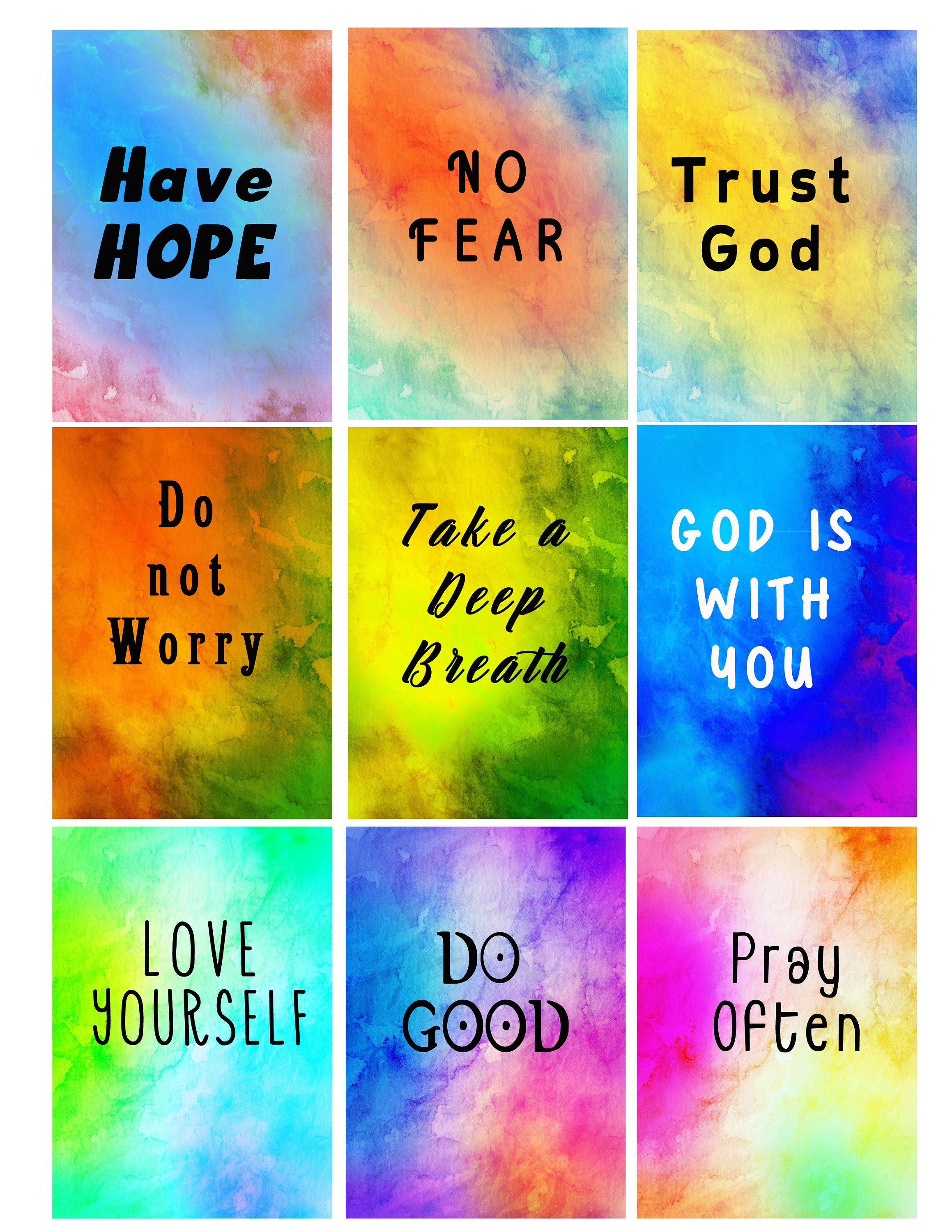 Positive Affirmations Printable Affirmations Confidence