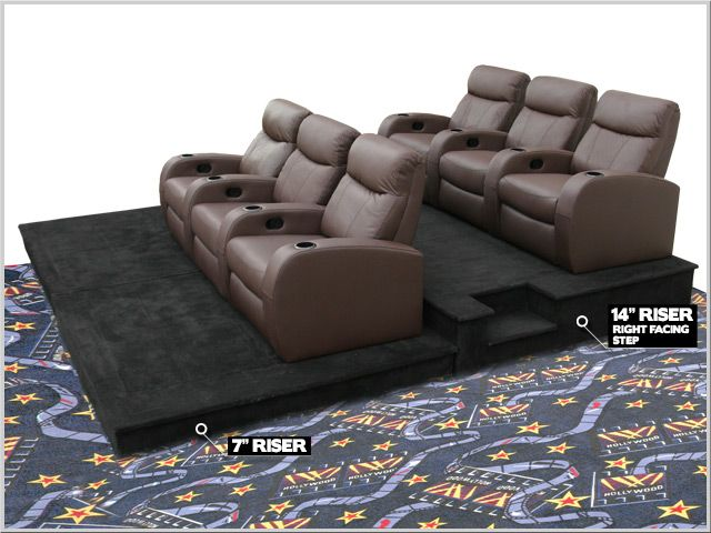 Home Theater Seat Risers With Images Home Cinema Room Home