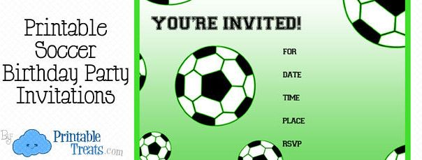 free printable soccer birthday party