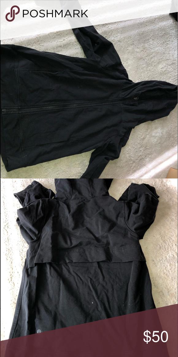 eead0eac90 Lulu lemon zip up sweatshirt Barley worn zip up sweatshirt with hood lululemon  athletica Tops Sweatshirts & Hoodies