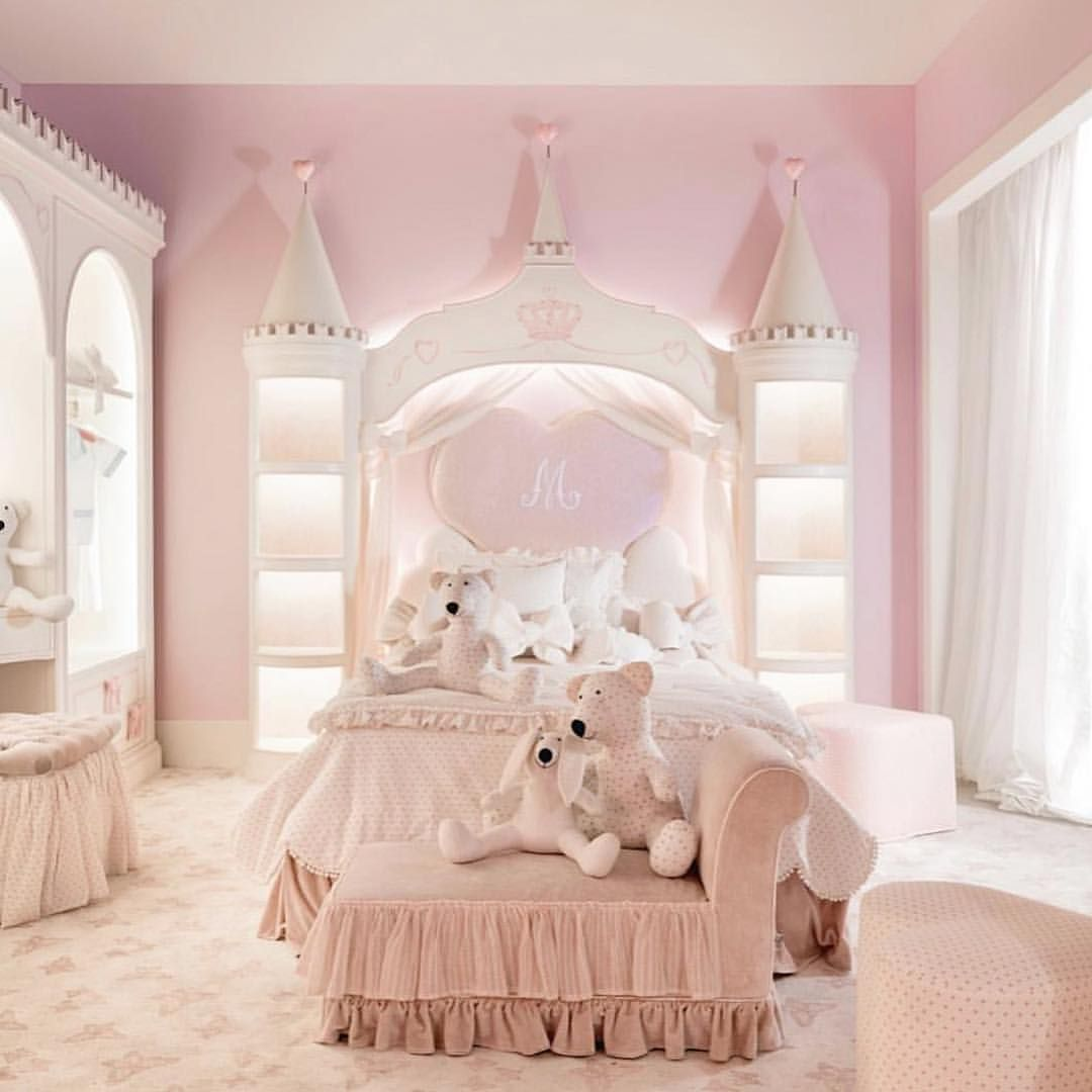 3 398 Likes 58 Comments Decor For Kids Decor For Kids On Instagram A Princess Sanctuary With Princess Bedrooms Girl Bedroom Designs Little Girl Rooms