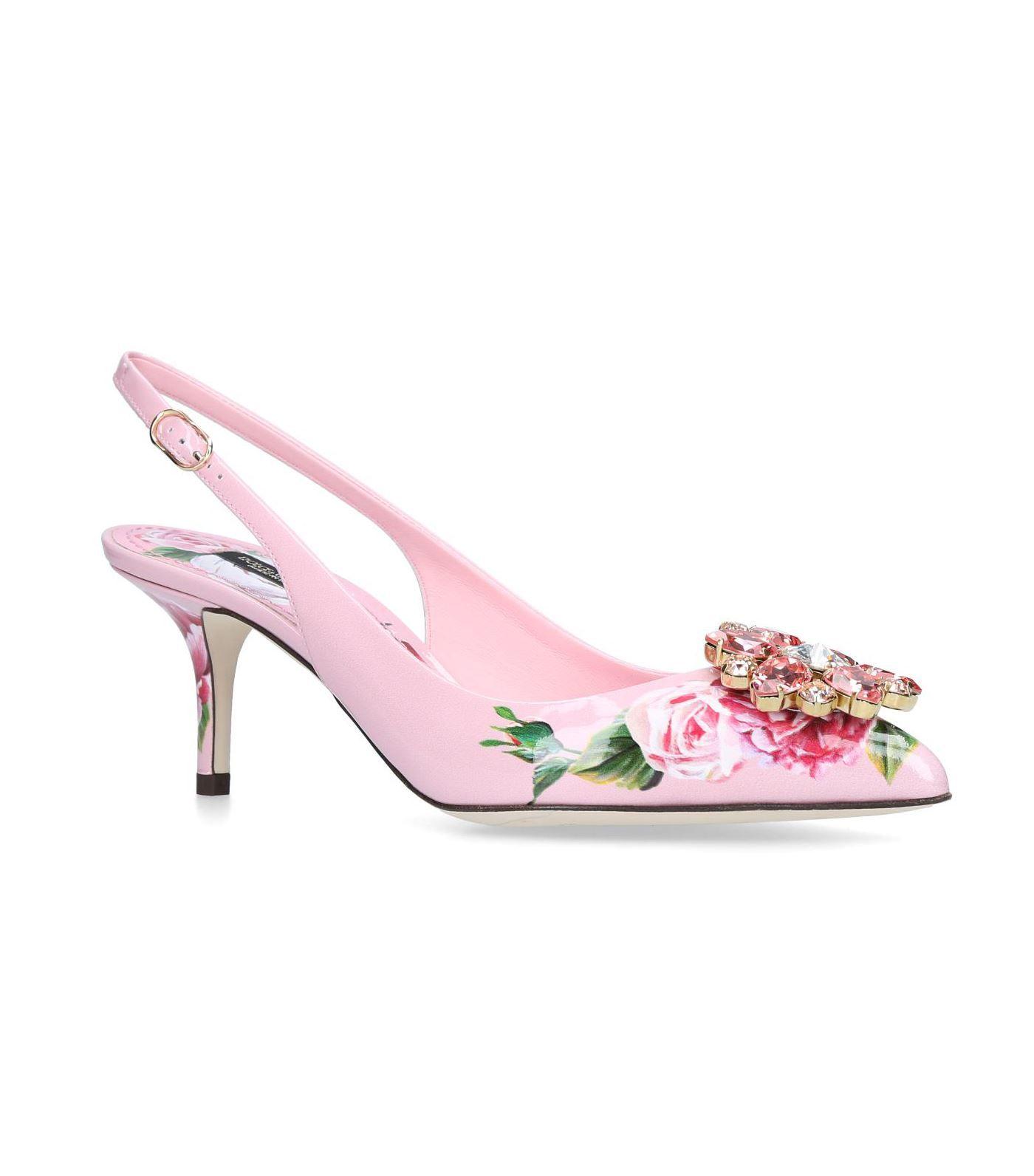778e41e10e86 DOLCE   GABBANA EMBELLISHED MAIOLICA BROCCATO SLINGBACK PUMPS 60.   dolcegabbana  shoes