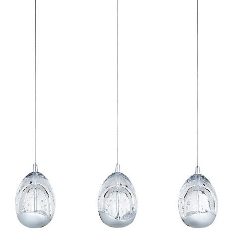 Buy john lewis 3 droplet led pendant ceiling light chrome online at johnlewis com