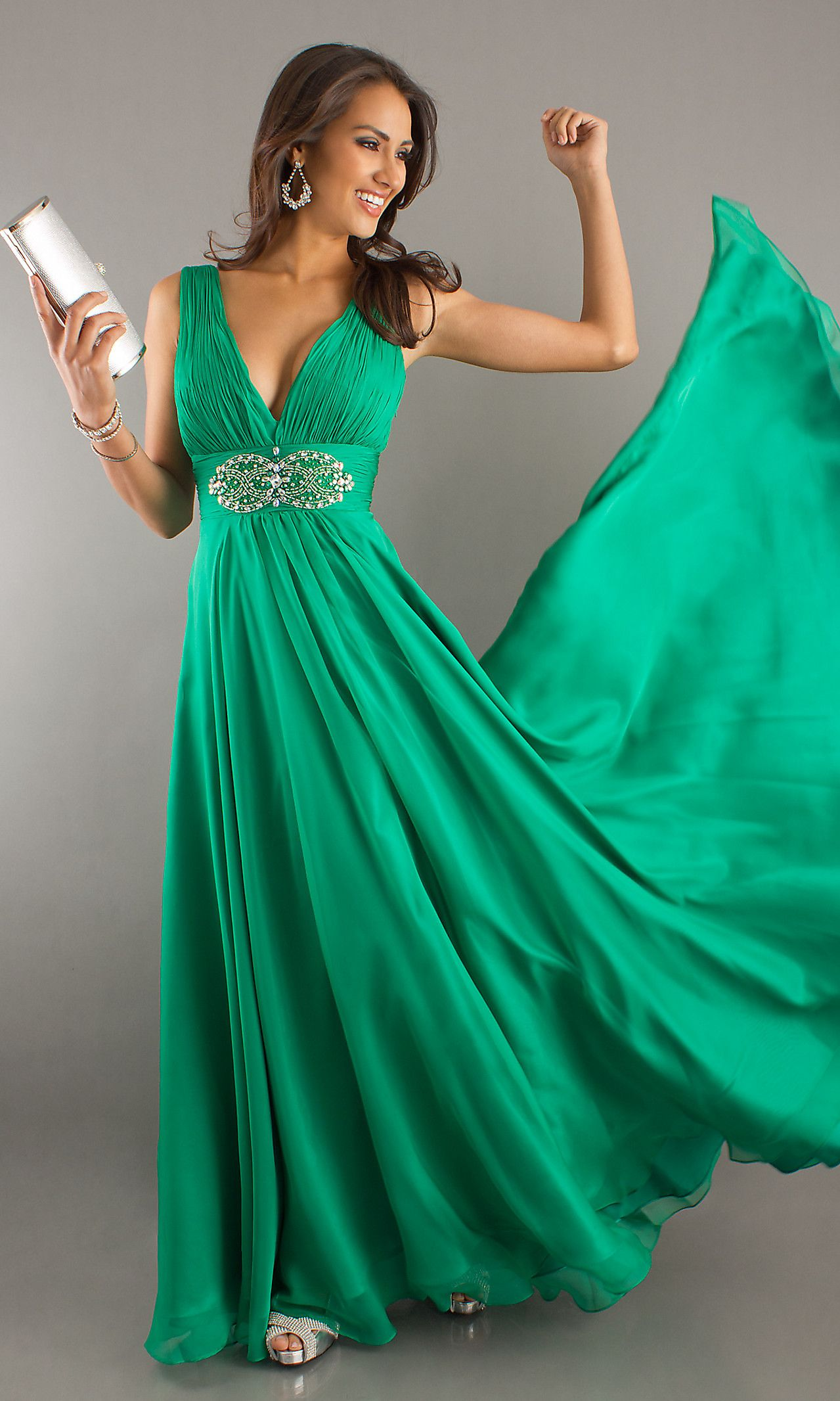Long deep vneck evening dress i feel pretty pinterest