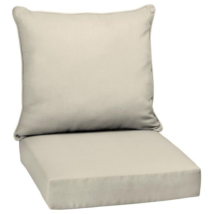 Arden Selections 24 X 24 Sand Canvas Texture 2 Piece Deep Seating