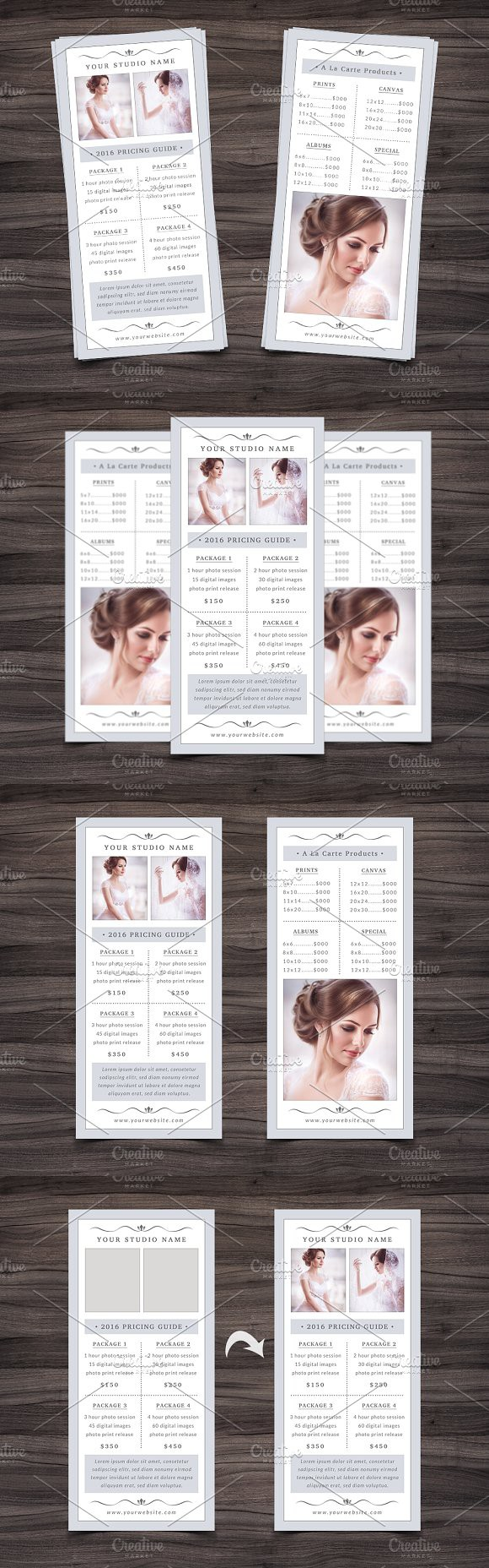 Photography Rack Card Template  Wedding Card Templates And Card