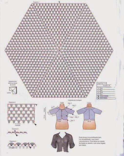 2e8ff66b22db Marieta s Yarnland  Πλεκτή ζακέτα με βελονάκι - crochet hexagon jacket