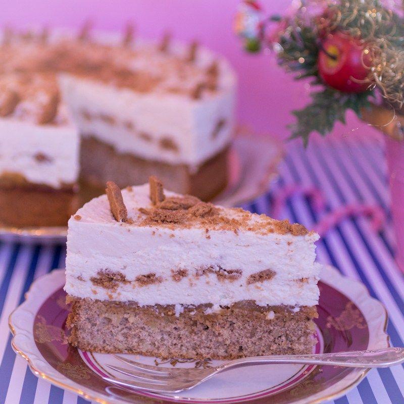 Spekulatius-Bratapfel Torte - Weihnachtstorte #sweetpie