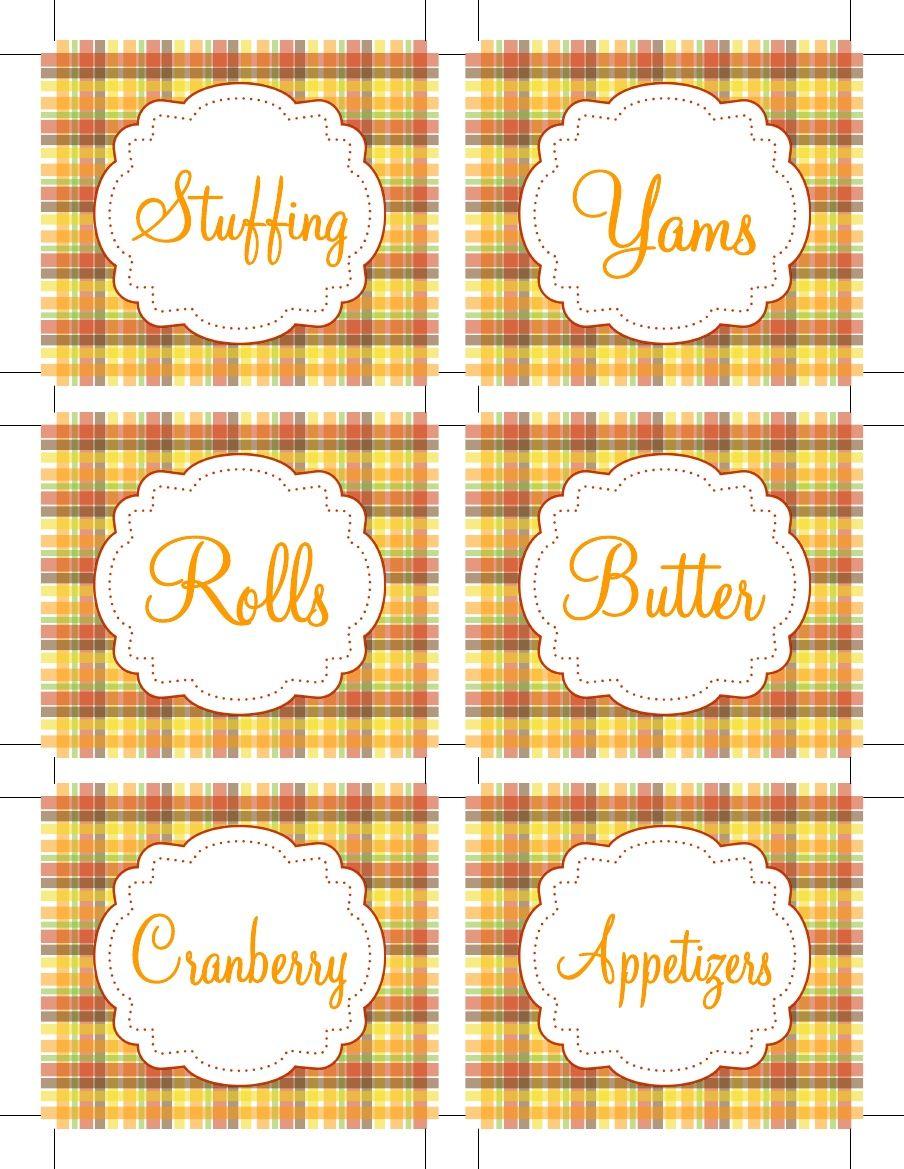 Thanksgiving Food Labels Free Printables | Thanksgiving ...