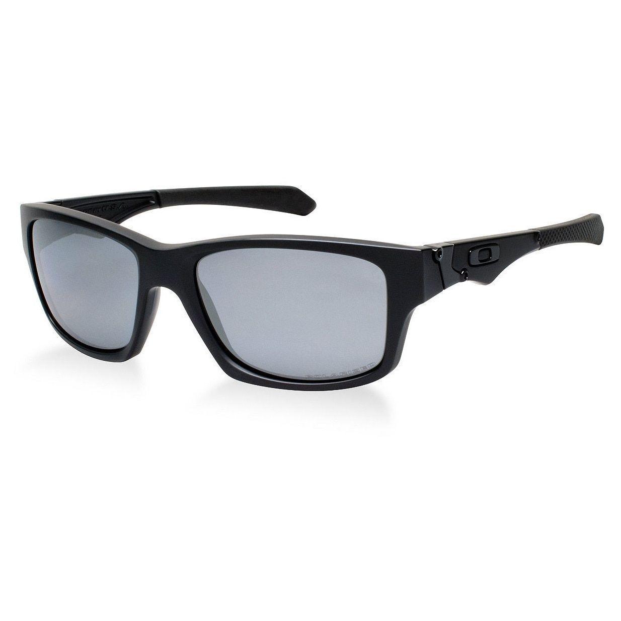 Oakley Men's Jupiter Matte and Iridium Polarized Lens Square Sunglasses