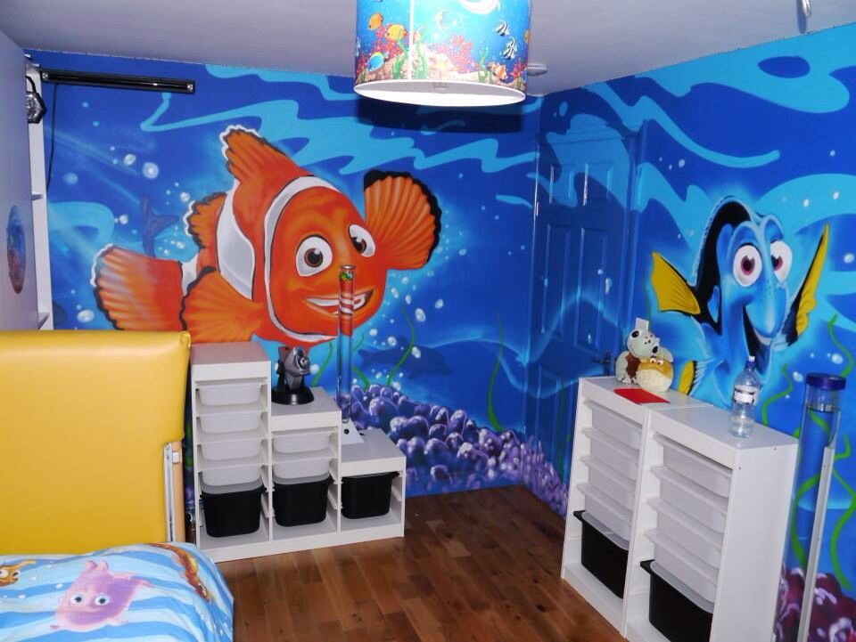 Kids Bedroom Graffiti children / teen / kids bedroom graffiti mural - #handpainted