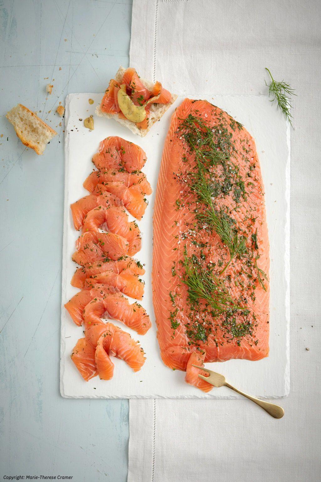 Gebeizter Lachs als Vorspeise – Fabios Festtagsmenü #easyshrimprecipes
