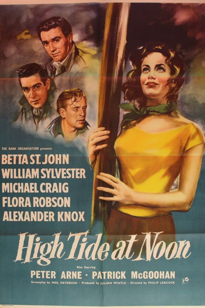"""Movie Posters Lobby Cards Vintage Movie Memorabilia: """"High Tide At Noon"""" Movie Poster & Set Of Lobby Cards"""