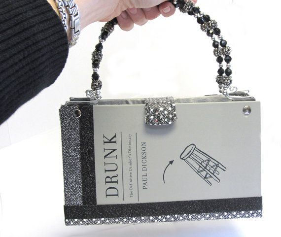 Transformed Book Purse Hand Made with Beaded Handles by FiberFancies, $75.00